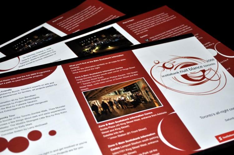 Nuit Blanche Brochure Design