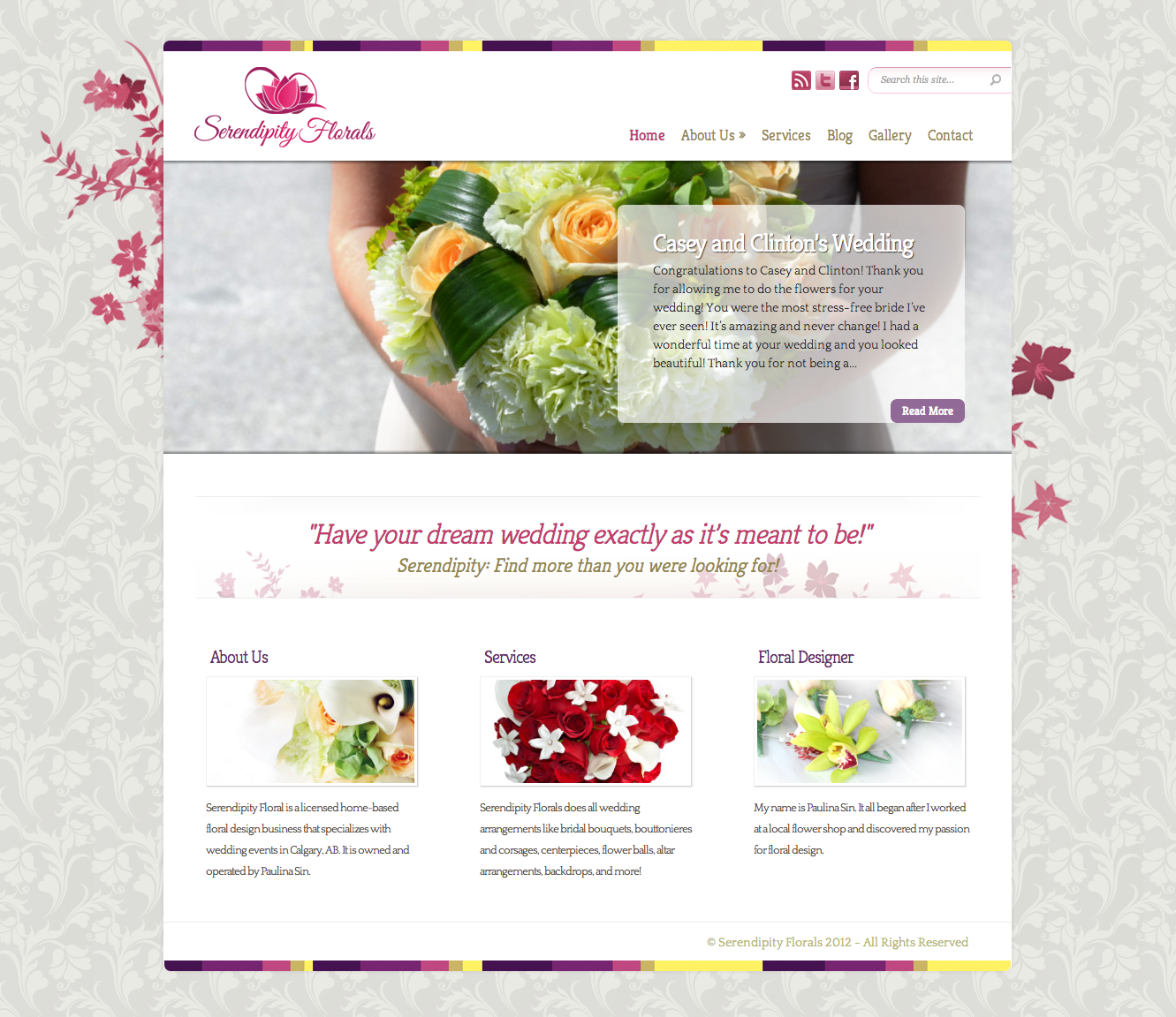 Serendipity Florals Website